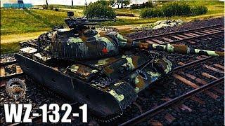 СТАТИСТ на ЛТ WZ-132-1 🌟 World of Tanks gameplay