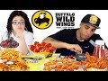 My secret life.... I act different when my dad is around | Buffalo Wild Wings Mukbang Eating Show