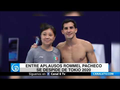Entre aplausos Rommel Pacheco se despide de Tokio2020