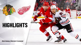 NHL Highlights | Blackhawks @ Red Wings 03/06/20