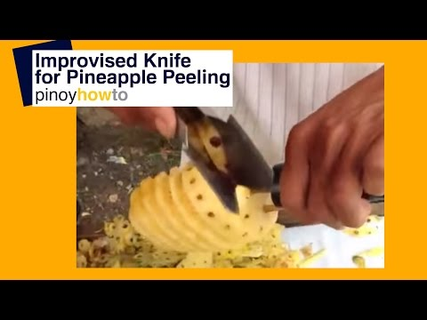 Pineapple – Fruit: How to Peel Pineapple using improvised knife | Pinoy How To