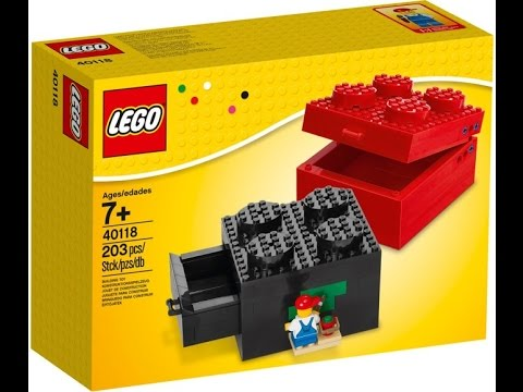 Vidéo LEGO Saisonnier 40118 : Boîte en briques à construire 2x2