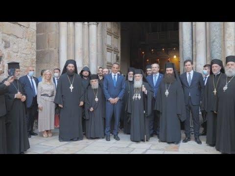 Στο ναό της Αναστάσεως ο πρωθυπουργός Κυριάκος Μητσοτάκης