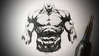 How To Draw The Torso (Comic Book Style) Pencil Drawing Tutorial