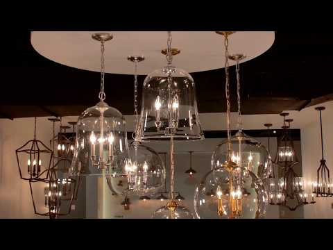 Video for Lawler Burnished Brass 16-Inch Three-Light Pendant
