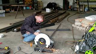 Cutting metal for Boat Dock Stairs
