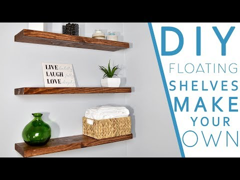 Easy DIY FLOATING SHELVES No bracket   DIY CREATORS