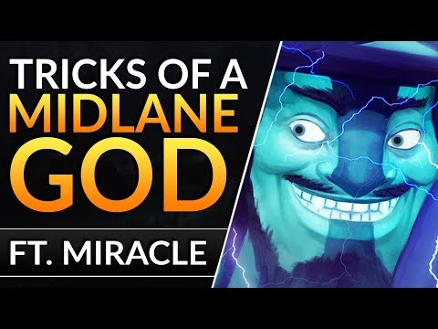 The INSANE MIDLANE Tricks of Miracle - How to ALWAYS WIN MID - Storm Spirit Tips - Dota 2 Pro Guide
