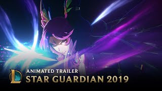 A cosmic darkness threatens to overcome three former teammates who were thought to have perished.  Star Guardian Neeko, Xayah, Rakan, and Zoe are available on September 12, 2019.
