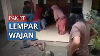 Video Viral Ketua RT Lempar Wajan Gorengan Imbau Social Distancing, Emak-emak Langsung Kocar-kacir