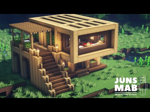 Minecraft: How to Build a Wooden House | Easy Survival House Tutorial #123