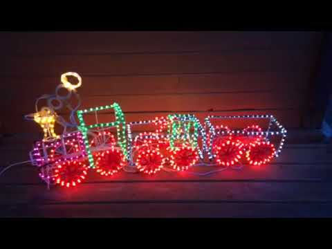 3d rope light train christmas outdoor yard decoration with control 3d rope light train youtube aloadofball Images