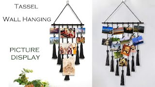 DIY How To Make Photo Display | Tassel Wall Hanging With Wool