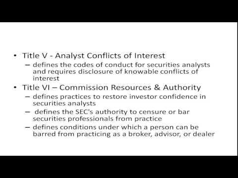 Sarbanes Oxley Act - YouTube