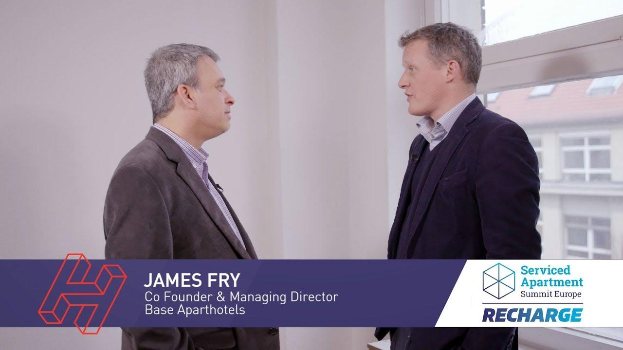 SAS RECHARGE 2019 interviews: James Fry, Base Aparthotels