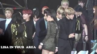 How BTS reaction to BLACKPINK. when they are walking past.