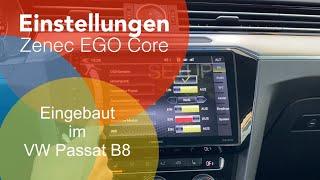 Einstellungen beim Zenec EGO Core Z-E1010 - Wifi, Kamera, Audio, Updates uvm.