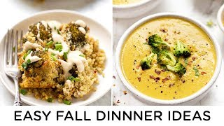 EASY FALL DINNER IDEAS ‣‣ 2 healthy vegan recipes