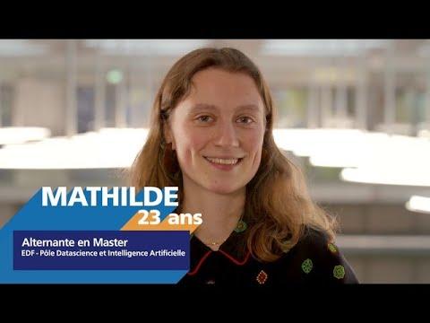 Video #AlternanceEDF - Découvrez Mathilde, alternante en Data Science