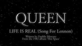 Queen - Life Is Real (Song For Lennon) (Official Lyric Video