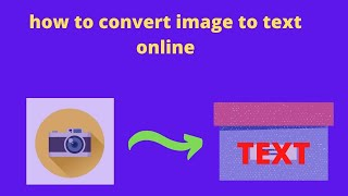 how to convert image to text online Bangla tutorial 2020