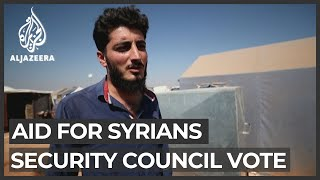 Aid for Syrians: Security council vote awaited in camps
