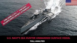 U.S. NAVY'S SEA HUNTER UNMANNED SURFACE VESSEL - FULL ANALYSIS