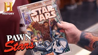 """Pawn Stars: """"Star Wars"""" Comic Signed by Fisher, Ford, and Hamill (Season 14) 