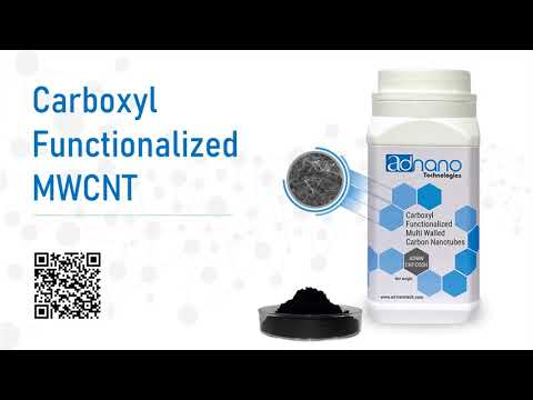 Carboxyl Functionalized Multi-Walled Carbon Nanotubes, COOH MWCNT, Carboxylic, Ad-Nano ADMWCNT-COOH