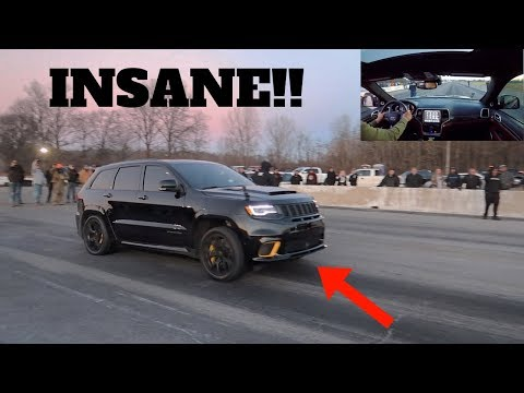I RACED THE FASTEST JEEP TRACKHAWK IN THE WORLD!