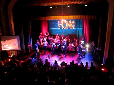 Emperor Norton's Stationary Marching Band at Somerville Theatre, Honk! Fest 2009