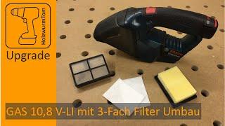 Bosch GAS 10,8 V-LI mit 3-fach Filter Umbau