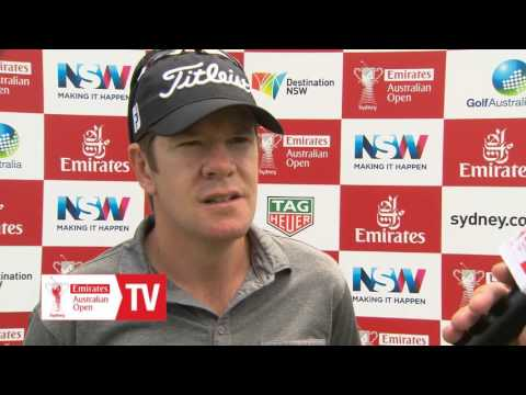 Aron Price after his round two 68 at 2015 Emirates Australian Open