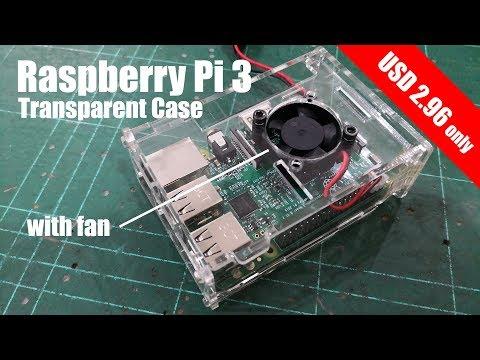 USD2.96 Transparent Raspberry Pi 3 Case Assembly - Banggood