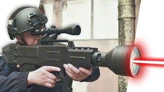 الصين تخترع بندقية ليزر تصيب الهدف من 1000 متر وبدون ذخيرة !  #مكسرات