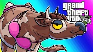 GTA5 Online Funny Moments - Lui's Animal Buddies!