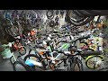 Inside provincial Russian sports shop. In search of a folding bicycle