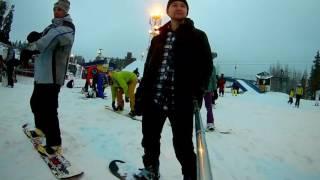 красное озеро и сноуборд под James Blunt - Working It Out