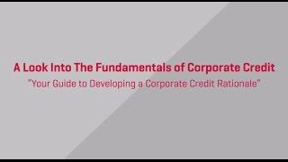 Fundamentals of Corporate Credit