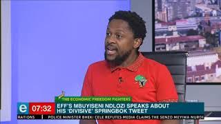 Mbuyiseni Ndlozi speaks about his 'divisive' #Springbok tweet