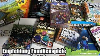 Empfehlung Familienspiele und Kurzüberblick einiger Kennerspiele