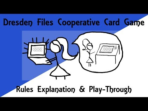 Dresden Files Cooperative Card Game Rules Explanation & Play-Through