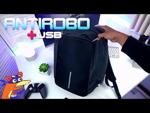 La Mochila Antirobo con puerto USB!!! xD