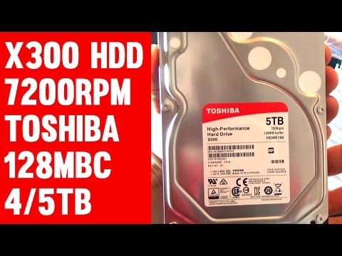Toshiba X300 4TB/5TB Budget Hard Drive Unboxing, Benchmark, Noise