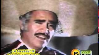 La Diferencia - Vicente Fernandez (Video)