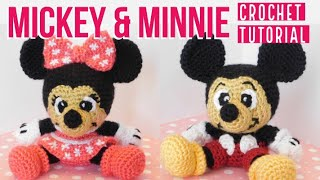 Mickey And Minnie Crochet Tutorial (Part 1)