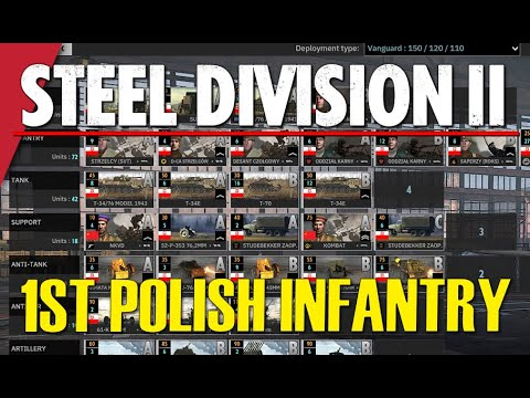 1ST POLISH INFANTRY (1. Piechoty)! Steel Division 2 Battlegroup Preview
