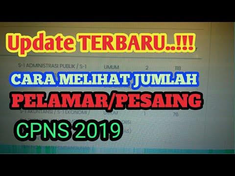 UPDATE 12 DESEMBER...!!! CARA MELIHAT JUMLAH PELAMAR & PESAING CPNS 2019