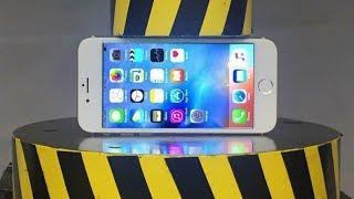 EXPERIMENT HYDRAULIC PRESS 100 TON vs iPhone