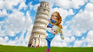 Elsa and Anna toddlers trip to Italy